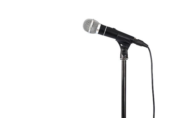Microphone sur pied