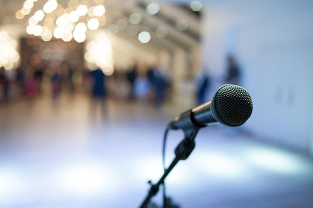 Microphone Sur Scène Photo Premium