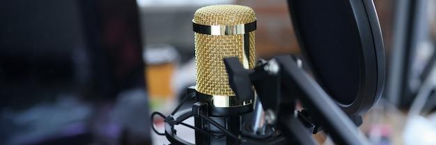 Microphone de studio pour l'enregistrement de streaming karaoké et de blogs