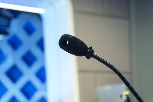 Microphone de studio de télévision