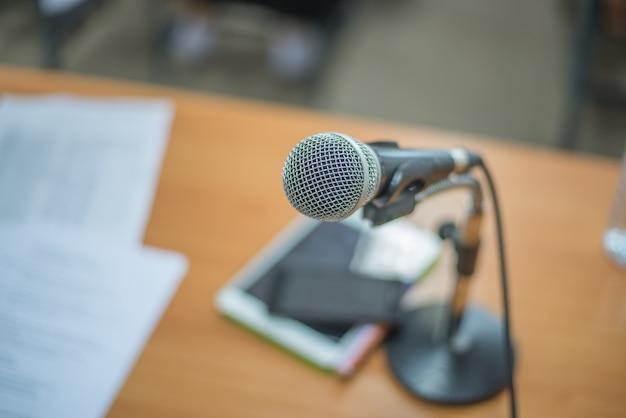 Microphone sur un support