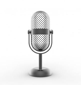 Microphone vintage en argent