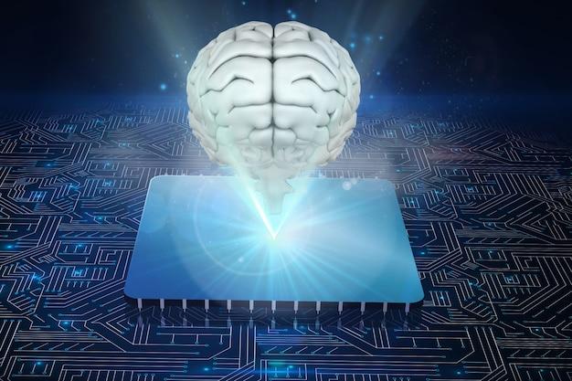 Un microprocesseur avec le cerveau