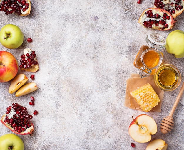 Miel, pomme et grenade pour rosh hashana