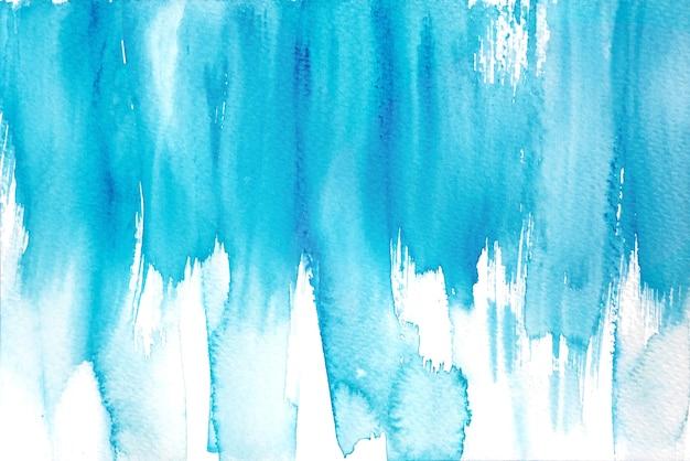 Milieux aquarelles abstraites bleues, peinture à la main