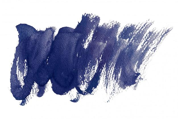 Milieux aquarelles bleu foncé, peinture à la main sur papier