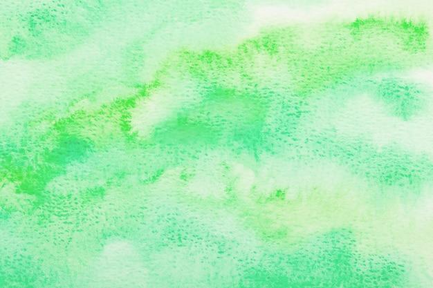 Milieux aquarelles verts. texture verte dessinée à la main