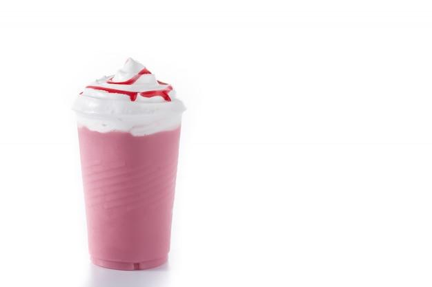 Milk-shake glacé à la fraise