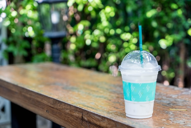 Milkshake glacé à la vanille