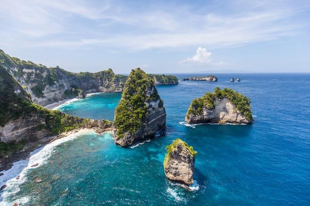 Mille îles sur nusa penida, près de bali, indonésie