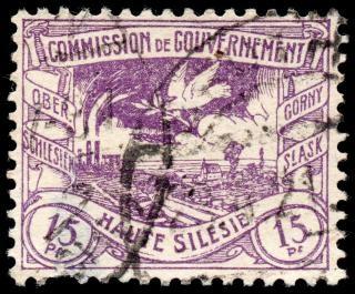 Mine de charbon de pourpre et de timbre pigeon