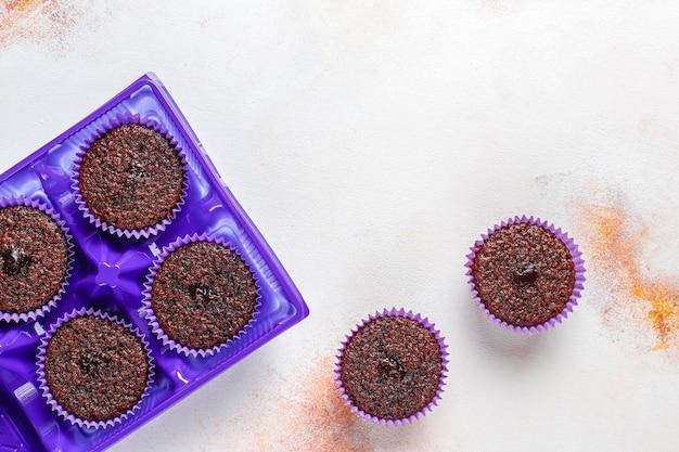 Mini cupcakes soufflés au chocolat