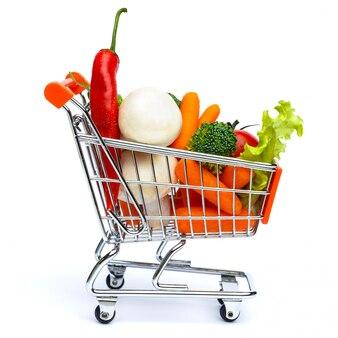 Mini panier plein de légumes