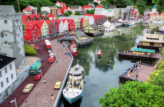 Miniature de l'architecture scandinave en legoland