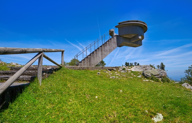 Mirador del fitu point de vue fito dans les asturies en espagne