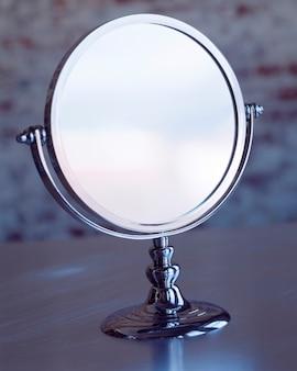 Miroir argent rond