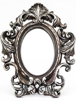 Miroir vintage argenté