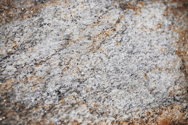 Mise au point sélective au centre de la surface rocheuse texturée.