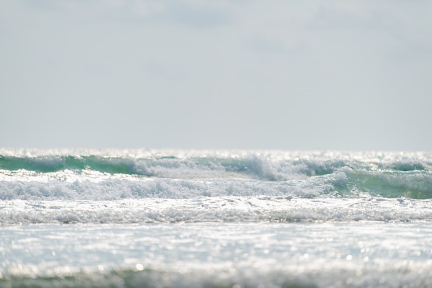 Mise au point sélective d'eau de mer et de lumière du jour