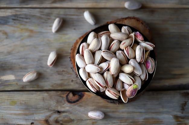 Mise au point sélective pistaches en coque