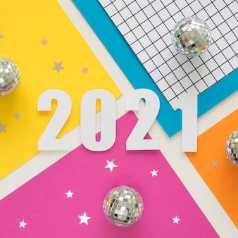 Mise à plat du beau concept de nouvel an