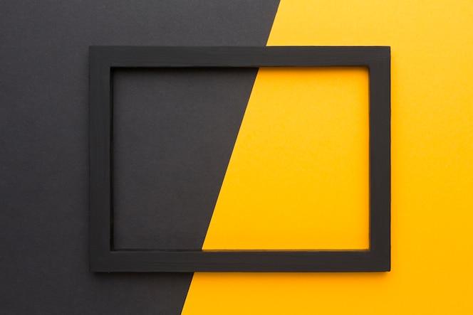 Mise à plat du cadre noir avec espace copie