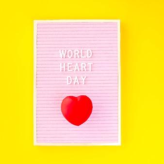 Mise à plat du cœur pour la journée mondiale du cœur