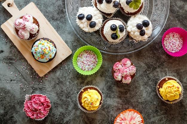 Mise à plat du concept de délicieux petits gâteaux