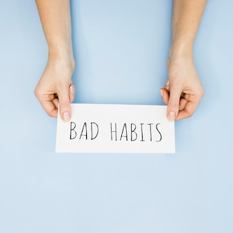 Mise à plat du concept de mauvaise habitude avec espace copie