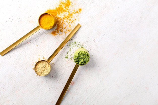Mise à plat du concept de poudre de condiments