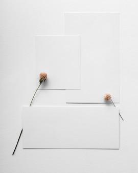 Mise à plat du moodboard de couleur minimaliste de l'année