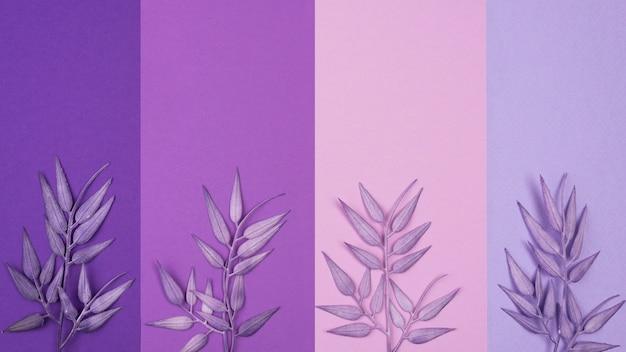 Mise à plat du motif monochromatique avec des feuilles