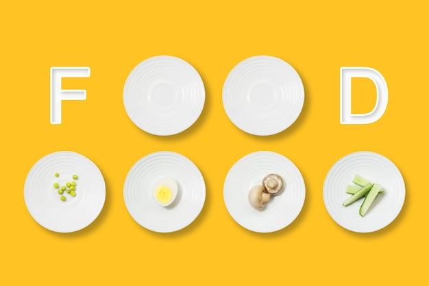 Mise à plat minimaliste des aliments sains