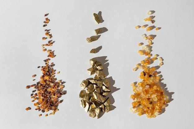 Mise à plat de raisins secs et de pierres du jour de l'épiphanie