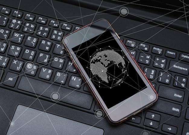 Mise en réseau et connexion et concept social