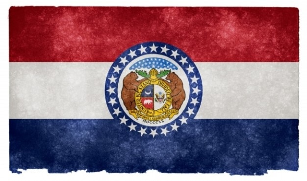 Missouri grunge flag
