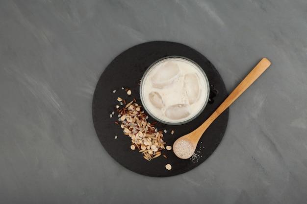 Misugaru latte ou misutgaru shake multigrains coréen sain