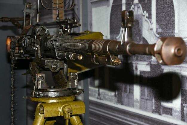 Mitrailleuse pour détruire des avions pendant la seconde guerre mondiale.