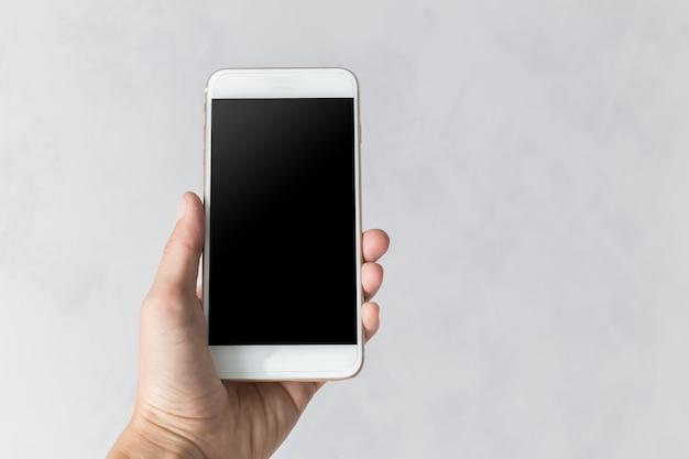 Mobile, smartphone avec écran noir et blanc