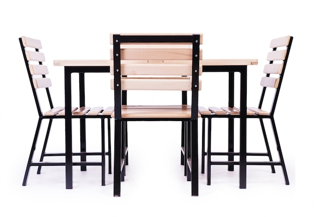 Mobilier de table isolé sur le blanc