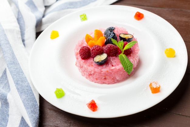 Mochi rose au riz sucré japonais