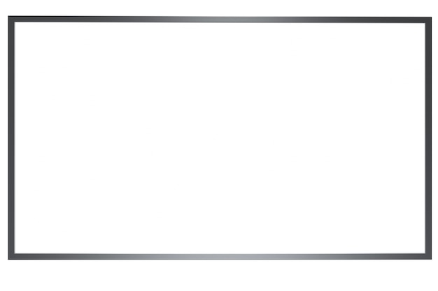 Mock up banner media light box isoler sur fond blanc