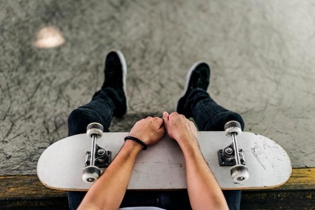 Mode de vie hipster loisir masculin concept