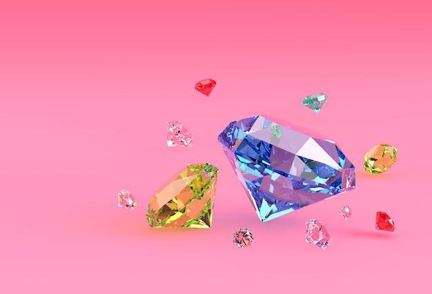 Modèle 3d illustration de diamant brillant conception d'image 3d.