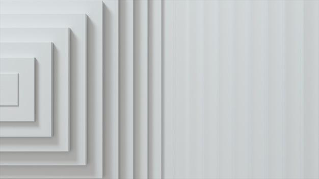 Modèle abstrait de carrés avec effet décalé. cubes vierges blancs.