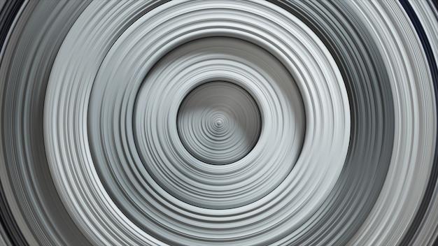 Modèle abstrait de cercles avec effet de déplacement. anneaux blancs blancs.