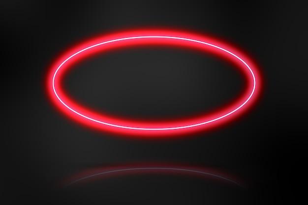 Un modèle abstrait de fond sombre avec un espace de copie de lumière de cadre néon vide