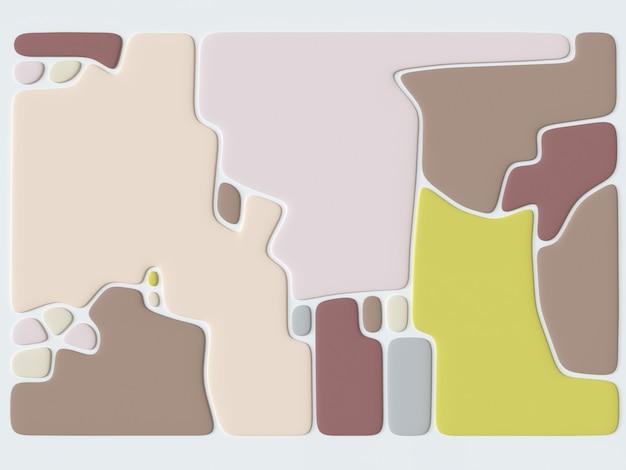 Modèle abstrait avec illustration 3d de fond géométrique