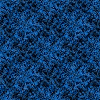 Modèle abstrait sans couture avec des lignes chaotiques bleues abstraites sur fond sombre