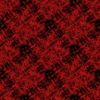 Modèle abstrait sans couture avec des lignes chaotiques rouges abstraites sur fond sombre